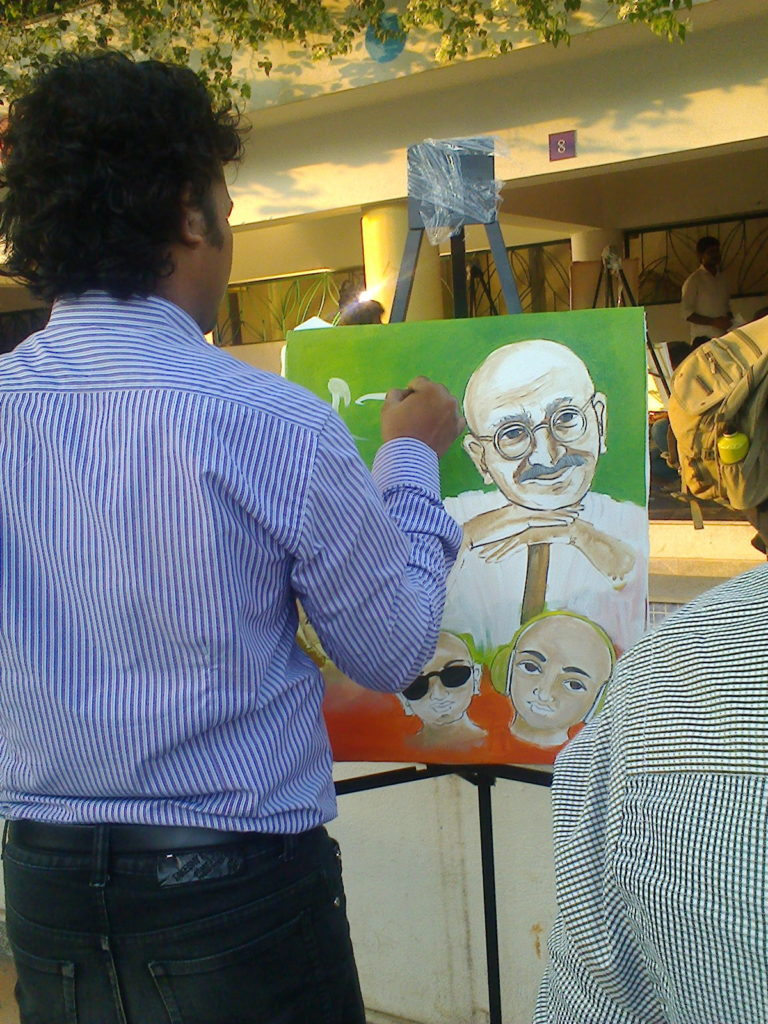 Portrait of Gandhi