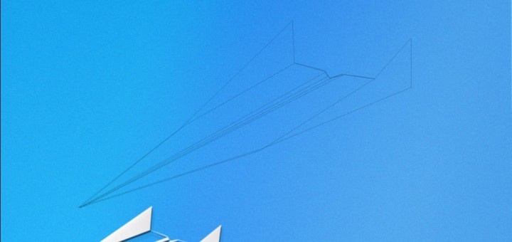 Paper Plane Poster Background