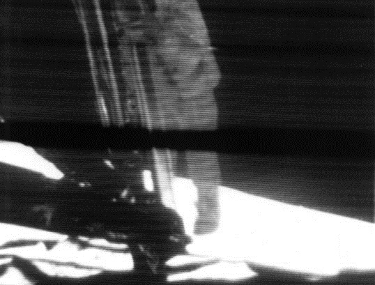 Neil Armstrong - first step on Moon