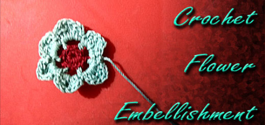 Crocheted Flower Embellishment